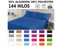 Juegos de sábanas LISO BIES de Poliéster/Algodón 50/50