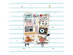 Tejido Panó MUSIC de JVR