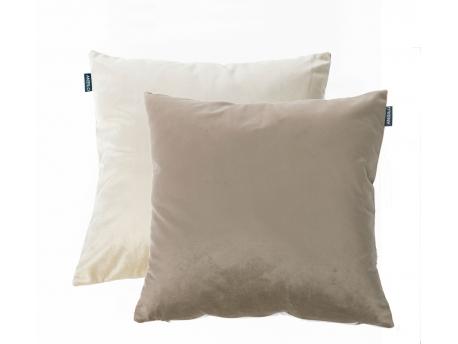 Cojín MERLIN Reversible c/Beig-Taupe de Textil Antilo
